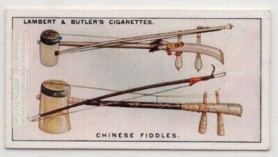 Chinese Saw Duand and Oo Fiddles  Music Instrument 1920s Ad Trade Card