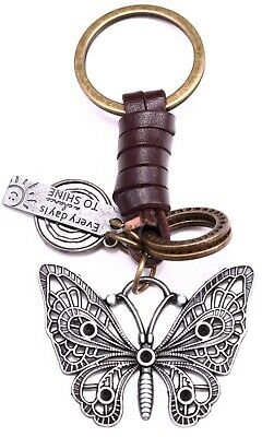 AuPra Butterfly Keyring  | Leather Women Keychain | Key Ring Pendant Gifts