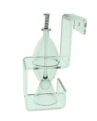 Glass Fish Food Feeder with Acrylic Hang on Stand for Aquarium Feeding
