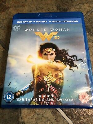 Wonder Woman 3D & 2D Blu Ray In Mint Condition