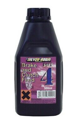 Silverhook DOT 4 Brake & Clutch Fluid - Car Van Motorcycle Scooter Bike - 500ml