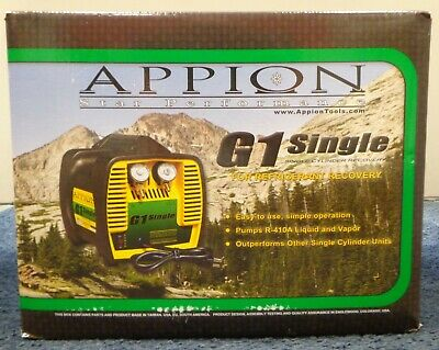 Appion G1 Single HVAC - Single Cylinder Refrigerant A/C Recovery Unit New in Box