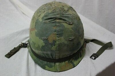 US Military WW2 M1 Front Seam HELMET RE Issue For Vietnam wth Liner CompleteAA11