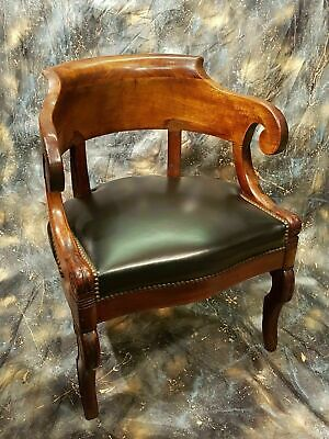 French NAPOLEONIC Period Mahogany Desk Chair, in the manner of Jacob c.1820.