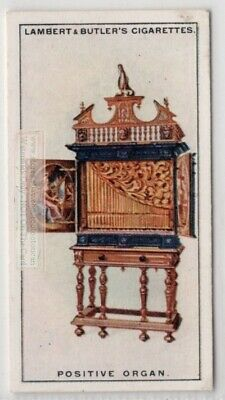Positive Chest Box Organ Mobile Music Instrument 1920s Ad Trade Card