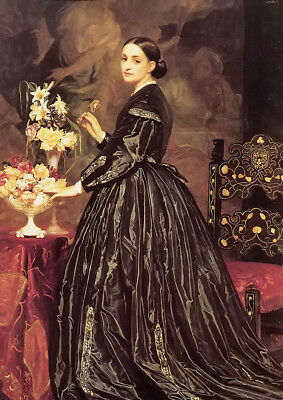 Dream-art Oil painting Lord Frederick Leighton - mrs james guthrie young lady !!