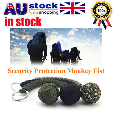 Security protecting Monkey Fist Self Defense Multifunctional Key Chain OB