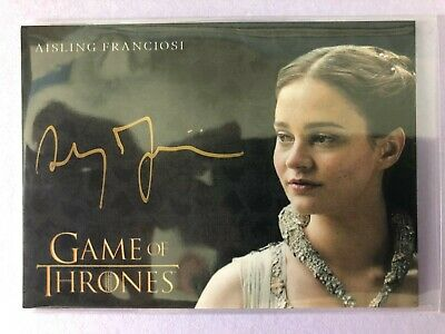 2019 Game of Thrones Inflexions * AISLING FRANCIOSI GOLD AUTOGRAPH AUTO