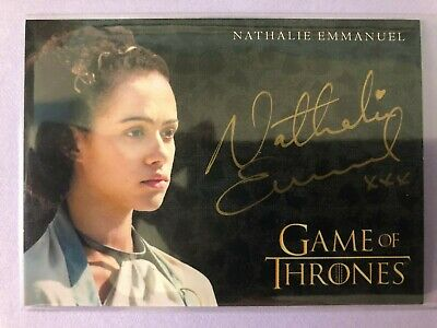 2019 Game of Thrones Inflexions * NATHALIE EMMANUEL GOLD AUTOGRAPH AUTO