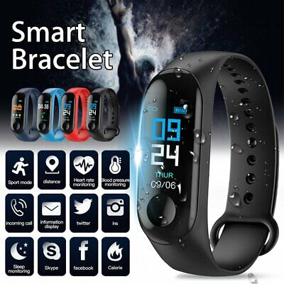 Smart Band Watch Bracelet Fitness Activity Tracker Blood PressureHeartRate M3