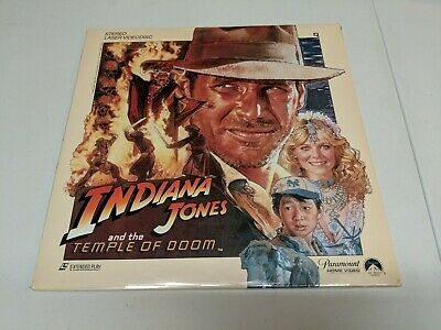 Indiana Jones and the Temple of Doom Laserdisc Harrison Ford New & Sealed