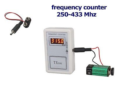 Frequency Counter Remotes Digital Reading Frequency Radio Controls 250-433 MHZ