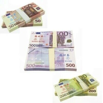 50Pcs Paper Money 5/10/20/50/100/200/500 Euro Notes. Paper Banknotes
