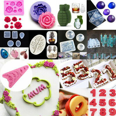 3D Rose Flower Grenade Silicone Mold Resin Geometric Pendant Jewelry Making Tool
