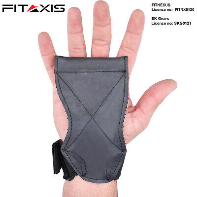 FITAXIS Lifting Weight Grips Powerlifting Wrist Wraps Gym Gloves Crossfit Pads..