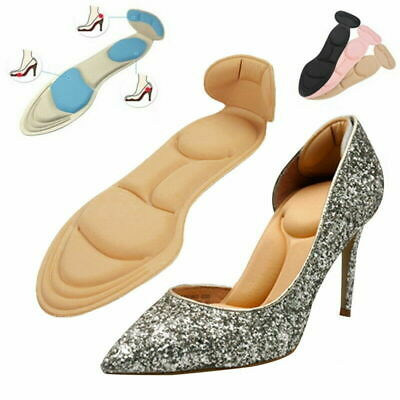 Women Self Adhesive High Heel Pad Grips Shoe Cushion Insole Inserts Back Blister