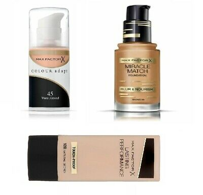 Max Factor: colour adapt -Miracle match Foundation-Lasting performance-Make-Up