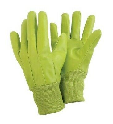 Briers Ladies Water Resistant Gardening Gloves, green, one size for messy jobs
