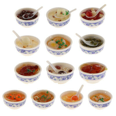 Dolls House Miniature Dessert Food in Bowl Kitchen Shop Dining Table Accessories