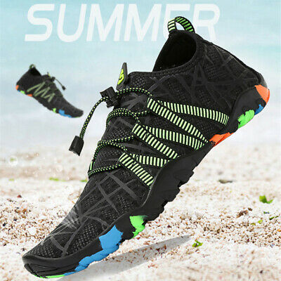 Men Swimming Water Shoes Beach Sandals Flat Soft Breathable Seaside Wading Shoes