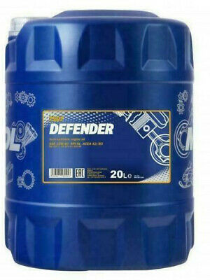 mannol 20L litre Defender Semi-Synthetic Engine Oil 10W40 501.01/505.00 MB229.1