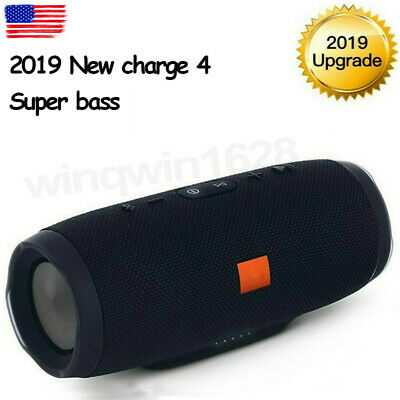 New Charge 4+ Edition Portable Waterproof Black Bluetooth Speaker Wireless Bass