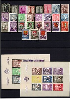 P116941/ Belgium / Semi-Postal / Lot 1938 – 1941 Mnh Full Sets 136 E