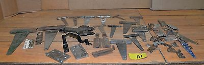 Rustic vintage barn door hinges old hardware latches parts collectible lot