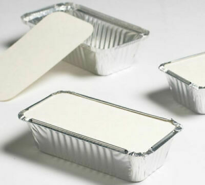 ALUMINIUM FOIL FOOD CONTAINERS WITH LIDS No 2a / No6a FOR TAKEAWAYS AND HOME USE