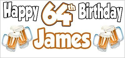 Beer 23rd Birthday Banner x 2 Party Decorations Mens Husband Dad Grandad Son