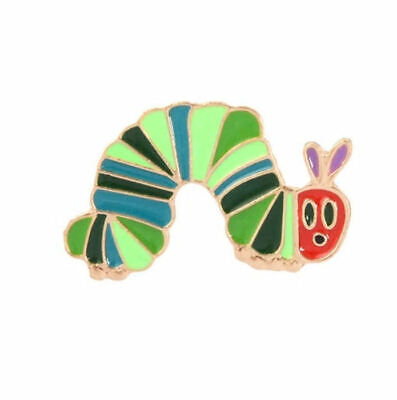** The Very Hungry Caterpillar * Pin Badge * Metal & Enamel Brooch Kids UK Stock