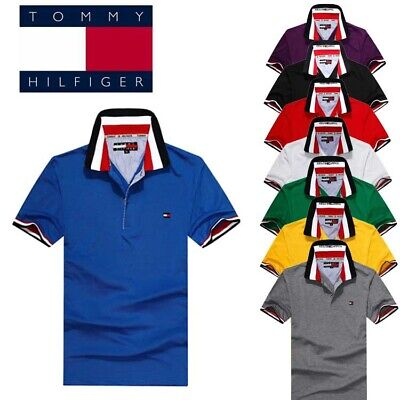 8 Colors Tommy New POLO MANICA CORTA UOMO DONNA ELEGANTE T-shirt Size M~XXL