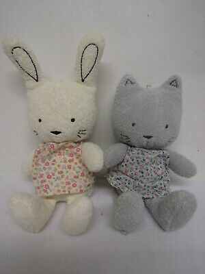 Little Jellycat Soft Toy Bundle Bubble Bunny & Bubble Kitty (Retired)