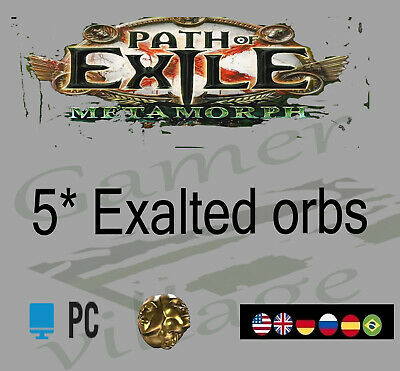 POE Orb Currency 50*Exalted Orb Path of Exile Legion League SC 50ex NA EU UK PC