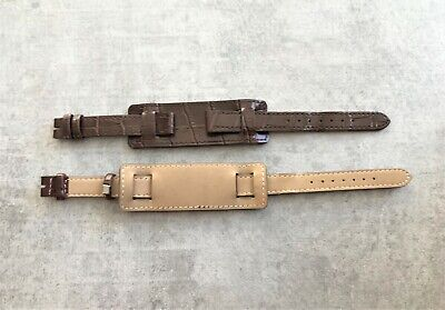 Brown Leather 14mm Cuff Replacement Strap