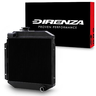 DIRENZA 40mm BLACK ALLOY RACE RADIATOR RAD FOR FORD ESCORT MK2 RS2000 74-81