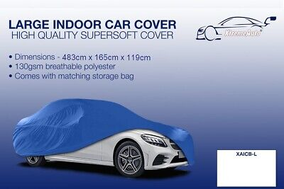 Large blue Indoor Car Cover Protector Mercedes-Benz C-Class 1993-2016