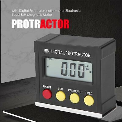 Level Box Protractor Digital Inclinometer 360° Angle Finder Bevel Magnet Gauge #