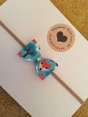 Baby Bow Girl Newborn Toddler Fox Headband Stretchy One Size Fits All