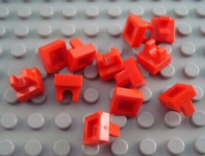 New LEGO Lot of 4 Red 1x1 Tiles with Rounded Top Clip