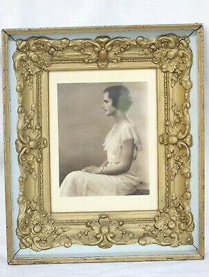 Vintage Framed Photograph Young Lady Victor C Dry Studio
