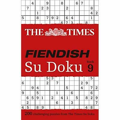 The Times Fiendish Su Doku Book 9 - Paperback NEW The Times Mind  2016-01-14
