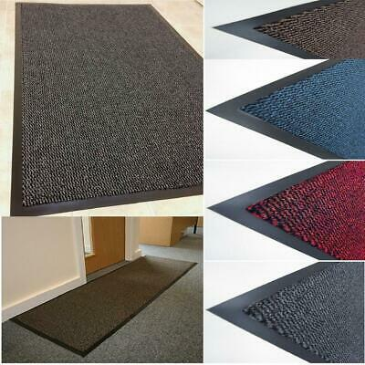 Heavy Duty Barrier Mats Non Slip Rubber Large &Small Rugs Mane Door Hall Kitchen