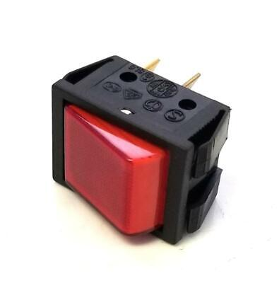 Generic Red Illuminated Rocker Switch T125 SCME2