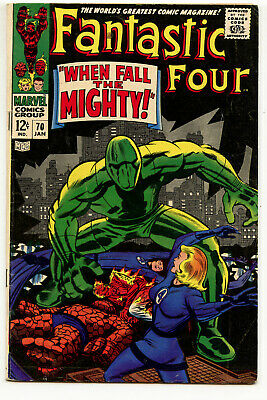 JERRY WEIST ESTATE: FANTASTIC FOUR #70 (Marvel 1968) VG+ condition NO RES