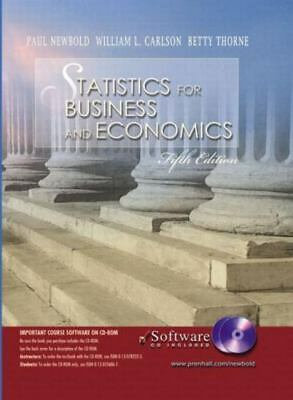 Statistics for Business and Economics and Student CD-ROM, Fifth Edition Newbold