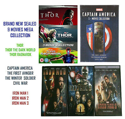 Thor 1-3, Captain America 1-3,Iron man 1-3 Collection Brand new sealed DVD