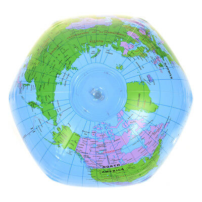 PVC Inflatable Blow Up World Globe 38CM Earth Atlas Ball Map Geography Toy Great
