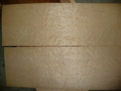 "Birds eye maple wood veneer 1/42"" thick 11"" wide 35"" long"