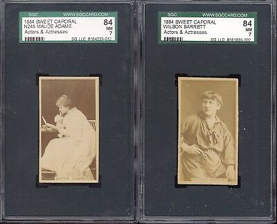 (3) 1880S N245 Sweet Caporal Kinney Cigarettes Cards Sgc 84 Near Mint High Grade